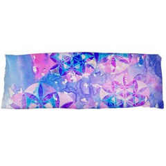 Flower Of Life Pattern Painting Blue Body Pillow Case Dakimakura (two Sides) by Cveti
