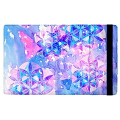 Flower Of Life Pattern Painting Blue Apple Ipad Pro 9 7   Flip Case by Cveti