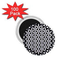 Flower Of Life Hexagon Cube 4 1 75  Magnets (100 Pack)  by Cveti