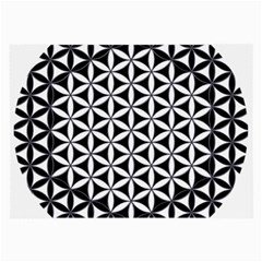 Flower Of Life Hexagon Cube 4 Large Glasses Cloth (2 Side) by Cveti
