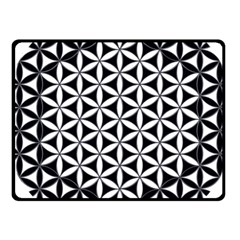 Flower Of Life Hexagon Cube 4 Fleece Blanket (small) by Cveti