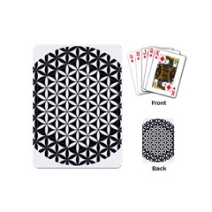 Flower Of Life Hexagon Cube 4 Playing Cards (mini)  by Cveti