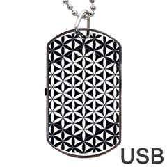 Flower Of Life Hexagon Cube 4 Dog Tag Usb Flash (two Sides) by Cveti