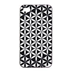 Flower Of Life Hexagon Cube 4 Apple Iphone 4/4s Seamless Case (black) by Cveti