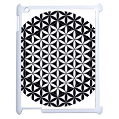 Flower Of Life Hexagon Cube 4 Apple Ipad 2 Case (white) by Cveti