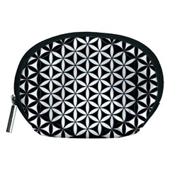 Flower Of Life Hexagon Cube 4 Accessory Pouches (medium)  by Cveti