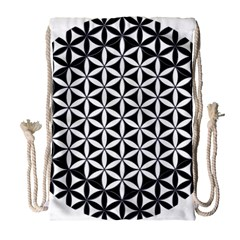Flower Of Life Hexagon Cube 4 Drawstring Bag (large) by Cveti