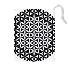 Flower Of Life Hexagon Cube 4 Drawstring Pouches (extra Large) by Cveti