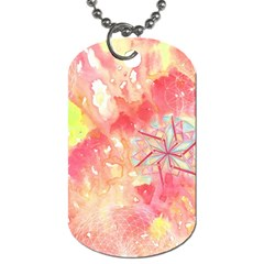 Flower Of Life Pattern Pink Dog Tag (one Side) by Cveti