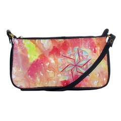 Flower Of Life Pattern Pink Shoulder Clutch Bags by Cveti