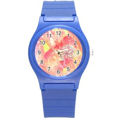 Flower Of Life Pattern Pink Round Plastic Sport Watch (s) by Cveti