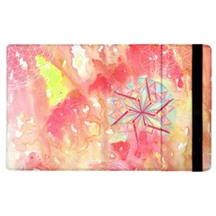 Flower Of Life Pattern Pink Apple Ipad 2 Flip Case by Cveti