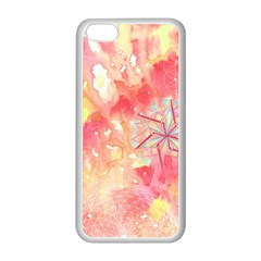 Flower Of Life Pattern Pink Apple Iphone 5c Seamless Case (white) by Cveti