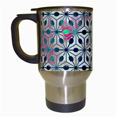 Asterisk, Pattern Sacred Geometry 1 Travel Mugs (white) by Cveti