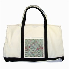 Asterisk, Pattern Sacred Geometry 1 Two Tone Tote Bag by Cveti