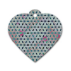 Asterisk, Pattern Sacred Geometry 1 Dog Tag Heart (two Sides) by Cveti