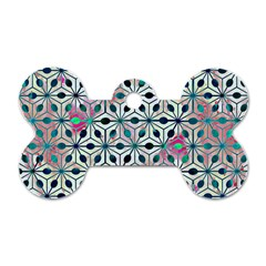 Asterisk, Pattern Sacred Geometry 1 Dog Tag Bone (two Sides) by Cveti