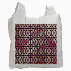 Asterisk Pattern Sacred Geometry 2 Recycle Bag (two Side)  by Cveti