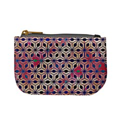 Asterisk Pattern Sacred Geometry 2 Mini Coin Purses by Cveti