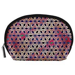 Asterisk Pattern Sacred Geometry 2 Accessory Pouches (large)  by Cveti