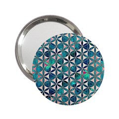 Flower Of Life, Paint, Turquoise, Pattern, 2 25  Handbag Mirrors by Cveti