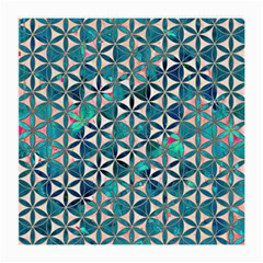 Flower Of Life, Paint, Turquoise, Pattern, Medium Glasses Cloth by Cveti