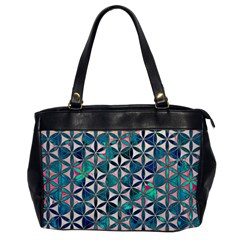 Flower Of Life, Paint, Turquoise, Pattern, Office Handbags by Cveti