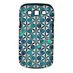 Flower Of Life, Paint, Turquoise, Pattern, Samsung Galaxy S Iii Classic Hardshell Case (pc+silicone) by Cveti