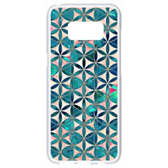 Flower Of Life, Paint, Turquoise, Pattern, Samsung Galaxy S8 White Seamless Case