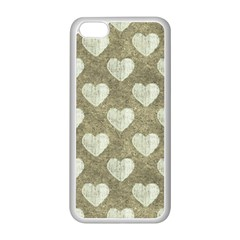 Hearts Motif Pattern Apple Iphone 5c Seamless Case (white) by dflcprints
