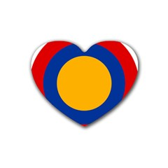 Roundel Of Armenian Air Force Heart Coaster (4 Pack)  by abbeyz71