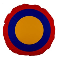 Roundel Of Armenian Air Force Large 18  Premium Round Cushions by abbeyz71
