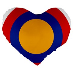 Roundel Of Armenian Air Force Large 19  Premium Flano Heart Shape Cushions by abbeyz71