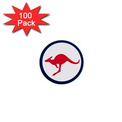 Roundel Of The Australian Air Force 1  Mini Buttons (100 Pack)  by abbeyz71