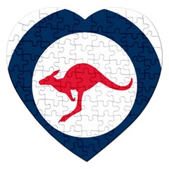Roundel Of The Australian Air Force Jigsaw Puzzle (heart) by abbeyz71
