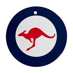 Roundel Of The Australian Air Force Round Ornament (two Sides) by abbeyz71