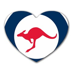 Roundel Of The Australian Air Force Heart Mousepads by abbeyz71