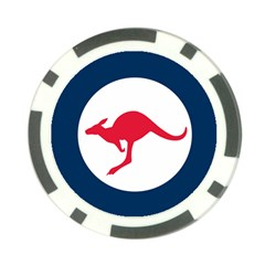 Roundel Of The Australian Air Force Poker Chip Card Guard by abbeyz71