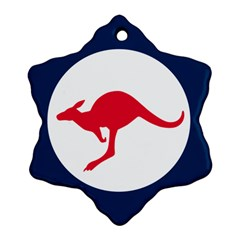 Roundel Of The Australian Air Force Snowflake Ornament (two Sides) by abbeyz71