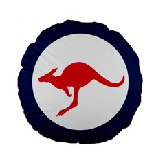 Roundel Of The Australian Air Force Standard 15  Premium Round Cushions by abbeyz71