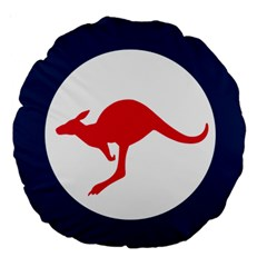 Roundel Of The Australian Air Force Large 18  Premium Round Cushions by abbeyz71