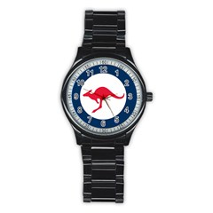 Roundel Of The Australian Air Force Stainless Steel Round Watch by abbeyz71