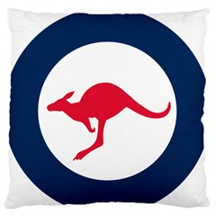Roundel Of The Australian Air Force Large Flano Cushion Case (two Sides) by abbeyz71