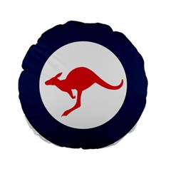 Roundel Of The Australian Air Force Standard 15  Premium Flano Round Cushions by abbeyz71