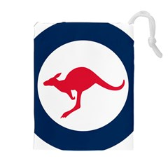 Roundel Of The Australian Air Force Drawstring Pouches (extra Large) by abbeyz71
