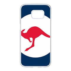 Roundel Of The Australian Air Force Samsung Galaxy S7 Edge White Seamless Case by abbeyz71