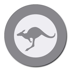 Low Visibility Roundel Of The Australian Air Force Round Mousepads by abbeyz71