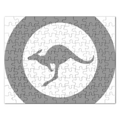 Low Visibility Roundel Of The Australian Air Force Rectangular Jigsaw Puzzl by abbeyz71