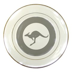 Low Visibility Roundel Of The Australian Air Force Porcelain Plates by abbeyz71