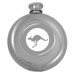 Low Visibility Roundel Of The Australian Air Force Round Hip Flask (5 Oz) by abbeyz71